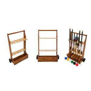 Wooden Croquet Storage Trolley