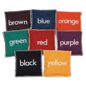 11cm Square Coloured Beanbags - Pack of 8