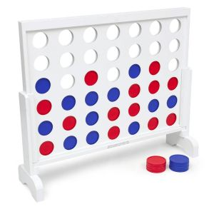 White Framed Giant Connect 4 Game - 0.9m Wide with Bag