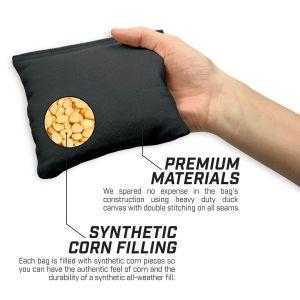 Premium Cornhole Bean Bag Set - Black