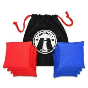 Premium Cornhole Bean Bag Set - Red and Blue
