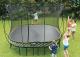 Tgoma - 4 x 4m Large Square Springfree Smart Trampoline