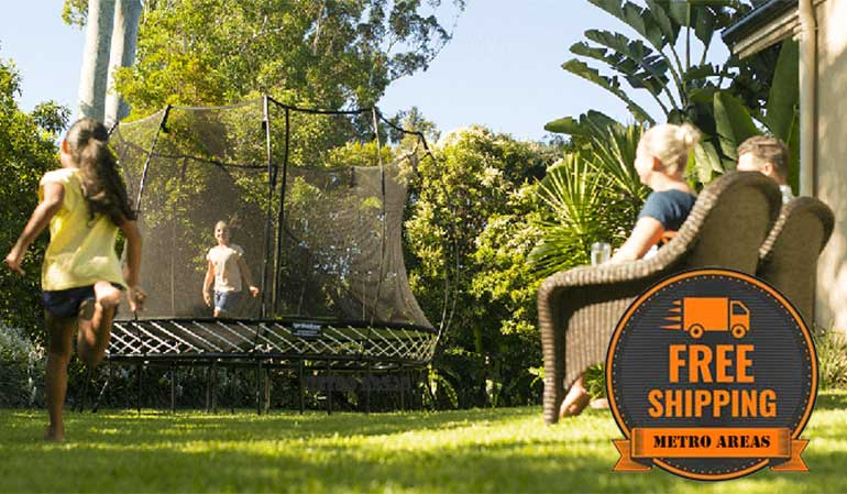Free Metro Shipping on Springfree Trampolines