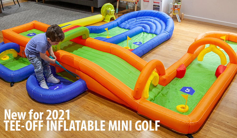 New - Kids Inflatable Tee-Off Golf Game